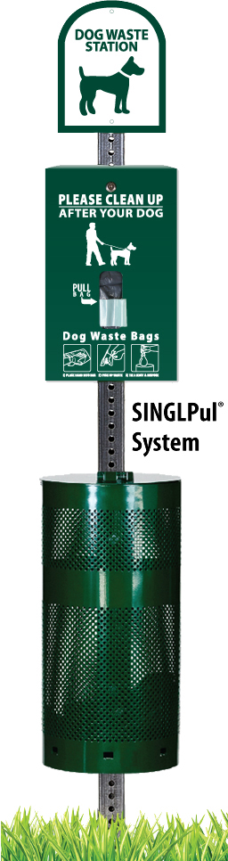 NEW! Flat Hanging Pet Waste Station with 400 Bags & 25 Can Liners