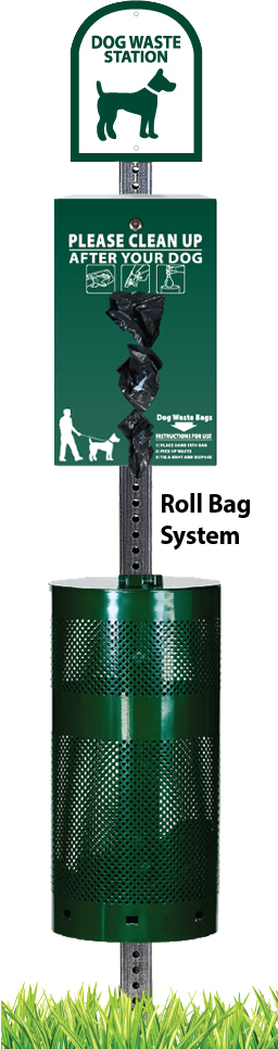 NEW! Boxed Roll Pet Waste Station with 400 Bags & 25 Can Liners