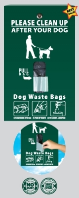 Flat Hanging Pet Waste Dispenser