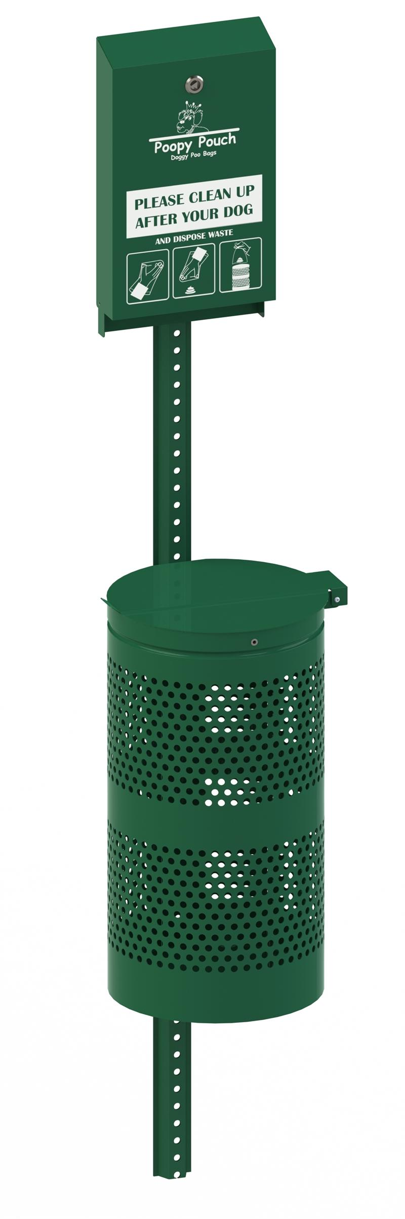 New!  The Regal Flat Header Pet Waste Station