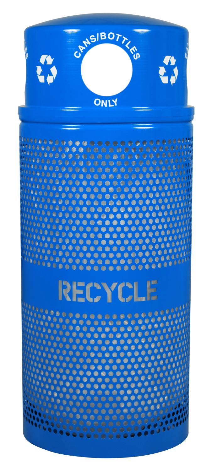 smart industry products - 34 gallon landscape series outdoor recycling receptacle RC-34R DM CANS RBL