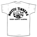 White T- Shirts With Your Campground  Logo For Tie Dye Activities - 36 QTY  $4.90 ea.