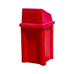 32 Gal. Square Receptacle, (YOUR CHOICE ) Lid