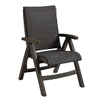 Java All-Weather Wicker Chair Espresso