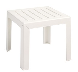 "Bahia 16""x16"" Low Table White"