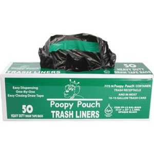 "13 Gallon Trash Liners  - ""50 bags per roll"""