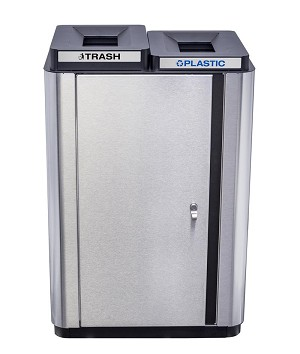 Echelon Slim Collection Indoor Two Stream Receptacle 34 Gallon Capacity