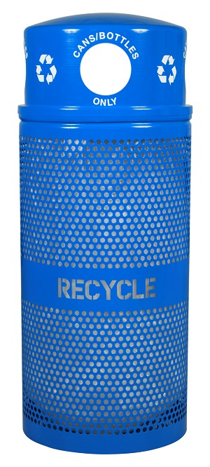 34 Gallon Landscape Series Outdoor Recycling Receptacle RC-34R DM CANS RBL