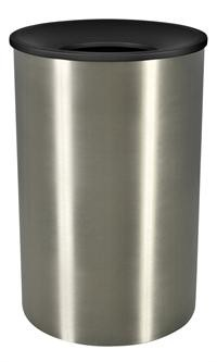 45 Gallon Premier Series -  Receptacle with Stainless Steel Body & Textured Funnel Top